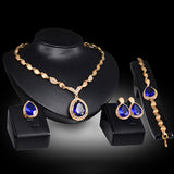 Women Waterdrop Necklace Earrings Bracelet Ring