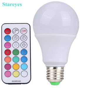 1 Piece E27 10W RGB W LED ball Bulb Light LED desk Lamp downlight droplight lighting with Remote