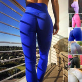 Solid Color Sexy Women's Gym Fitness Workout Stretch Sports Yoga Pants Leggings