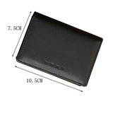 Men Faux Leather Wallet Bifold ID Credit Card Holder Mini Purse Money Clip Slot