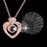 Chain Necklaces Fashion 100 Languages I Love You Projection