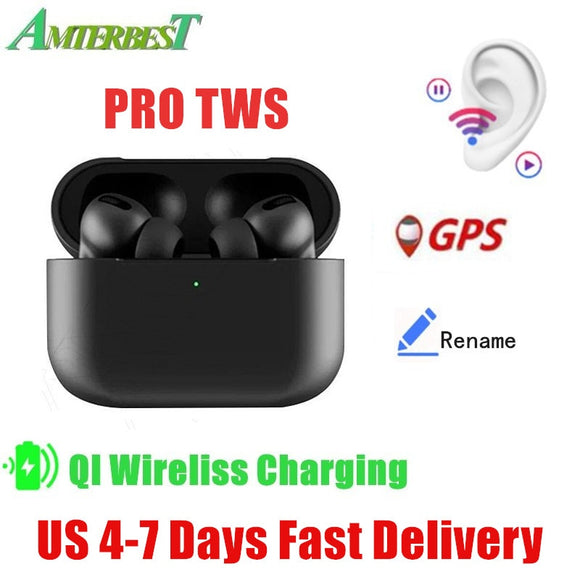 AMTERBEST  i500 pro3 TWS Portable Wireless Bluetooth Earphones Touch Control Headsets Stereo Earbuds for Smartphones