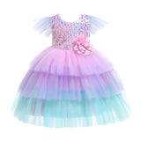 Kids Girls Sequin Princess Dress Bridesmaid