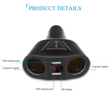 3.1A USB Car Charger with Cigarette Lighter Socket