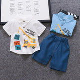 Striped Baby Boy Clothes Summer Newborn Baby Boy