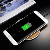 Leather Wireless Fast Charger for iPhone & Samsung
