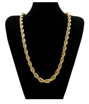 14K Yellow Gold Solid Brass Classic Korean Chain