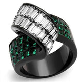 TK2199 IP Black(Ion Plating) Stainless Steel Ring