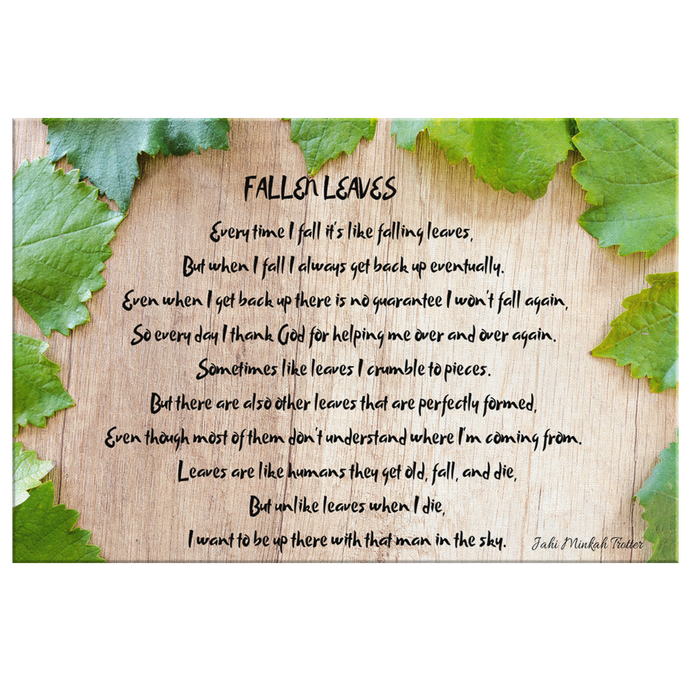 Fallen Leaves Poem By Jahi Minkah Trotter