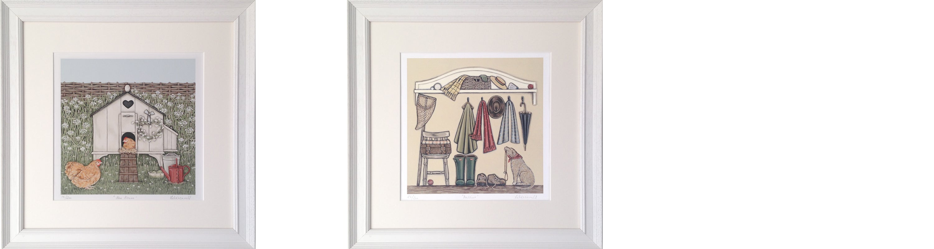 Hen House Walkies Framed Prints