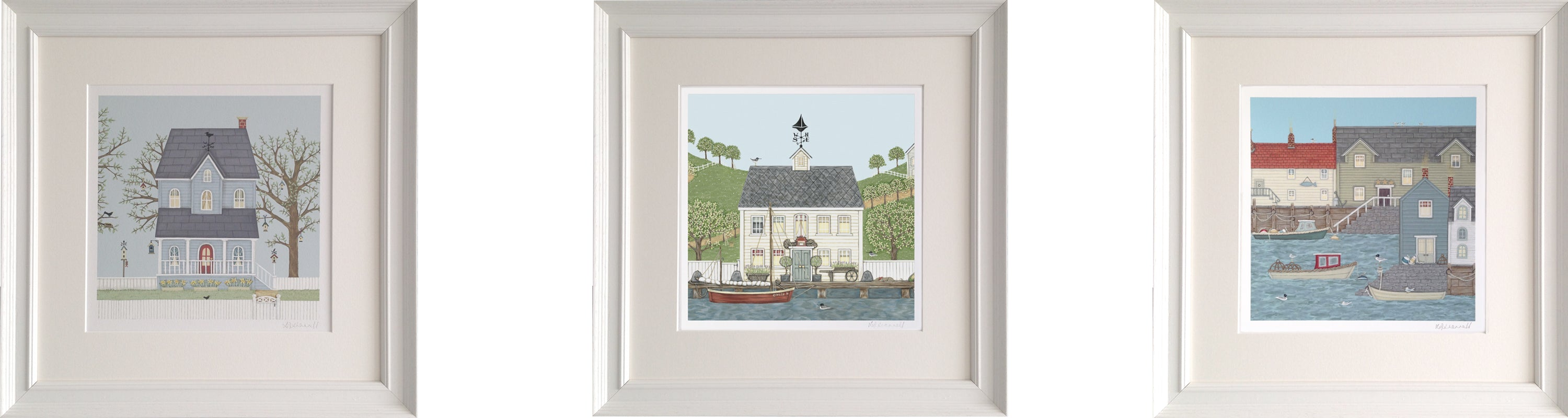 Hebe House The Captain's House Quayside Framed Prints