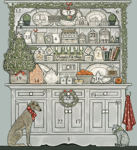 Christmas Dresser advent calendar, made in England