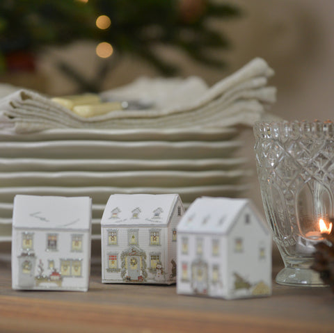 Christmas House favour boxes, made in England