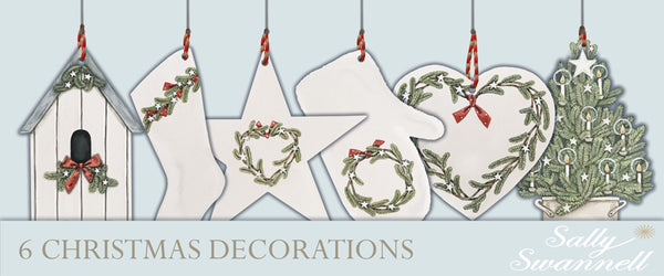 Set of 6 Christmas decorations