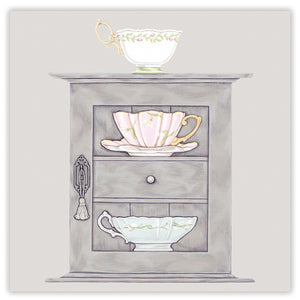 Cups & a Cupboard Greetings Card