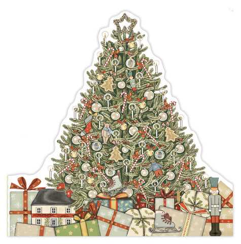 Christmas Tree die cut card, made in England