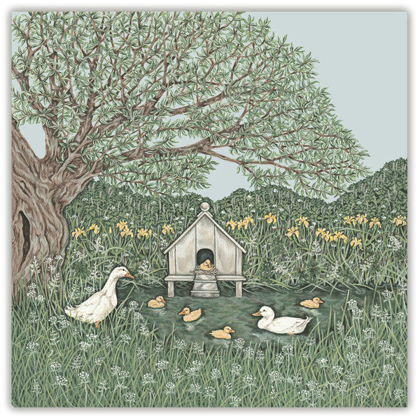 duck house greetings card