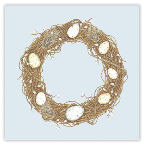 egg wreath greetings card
