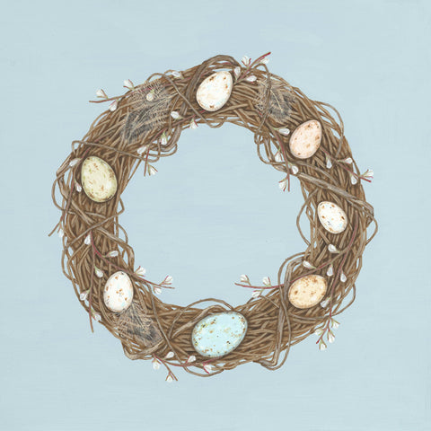 egg wreath limited edition giclée print