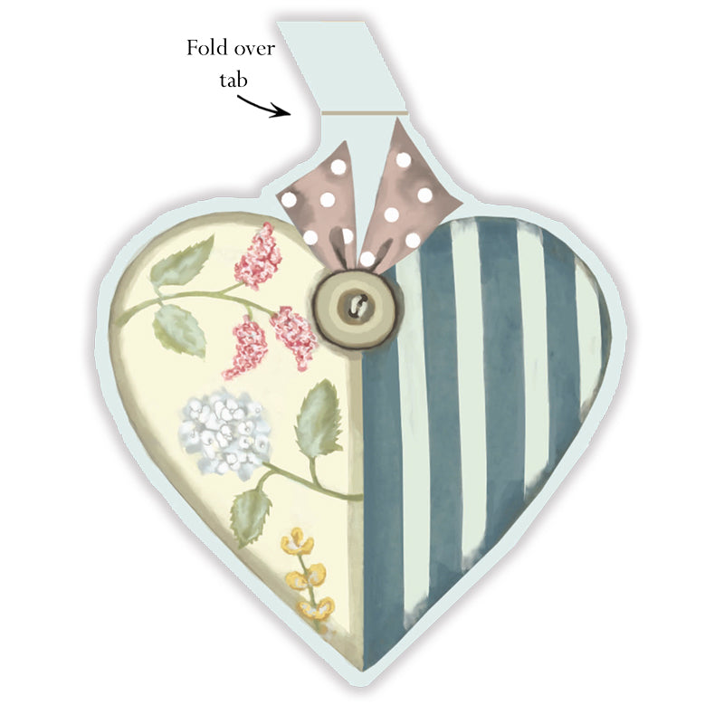 Patchwork Heart Gift Tags - pack of 6