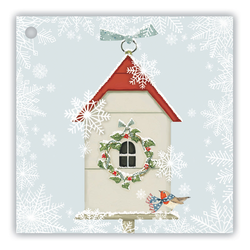 Christmas Birdhouse Gift Tags - pack of 8