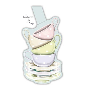 Tea Cups Gift Tags - pack of 6