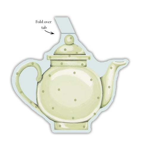 Tea Pot Gift Tag - pack of 6
