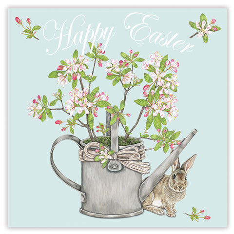 happy easter (bunny & blossom) greetings card