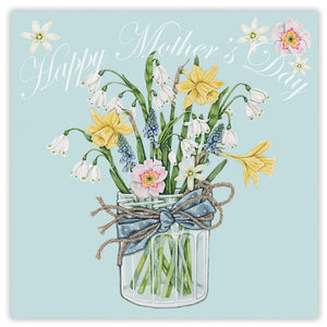 happy mother's day (flower jar) greetings card