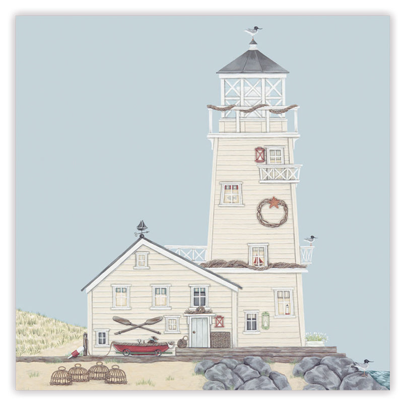 lighthouse greetings card