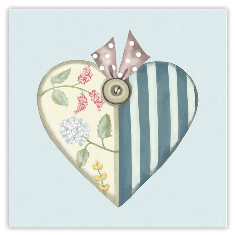 patchwork heart greetings card
