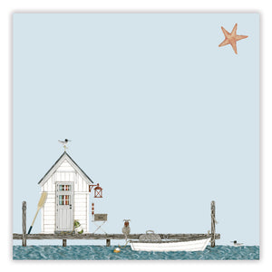 fishing hut postcard pack