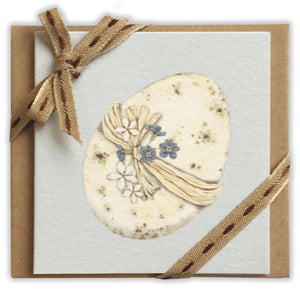 speckled egg ribboned notelet
