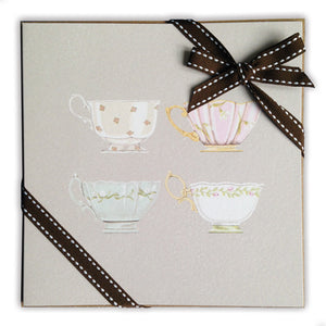 Ribboned Pack of Cups Greetings Cards