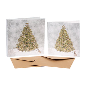 Christmas Tree card set, made in England