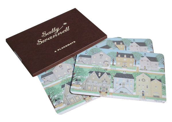 Brambling Village - Set of 4 Serving Mats