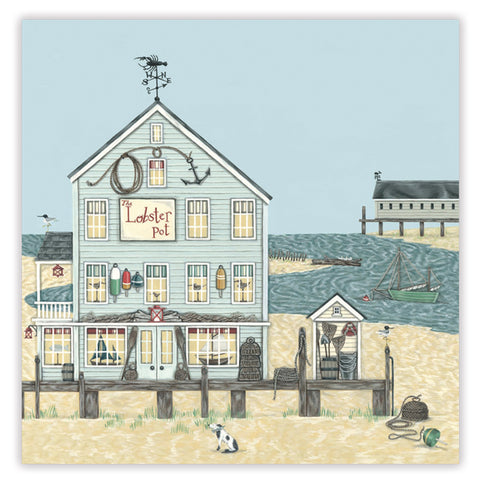 lobster pot greetings card