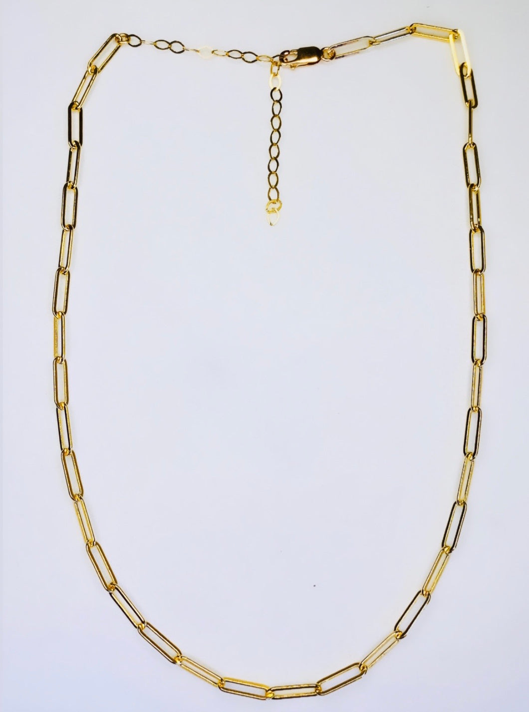 Paper Clip Necklace Gold