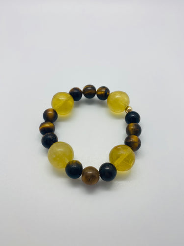 Citrine Tigers Eye Toddler Healing Bracelet