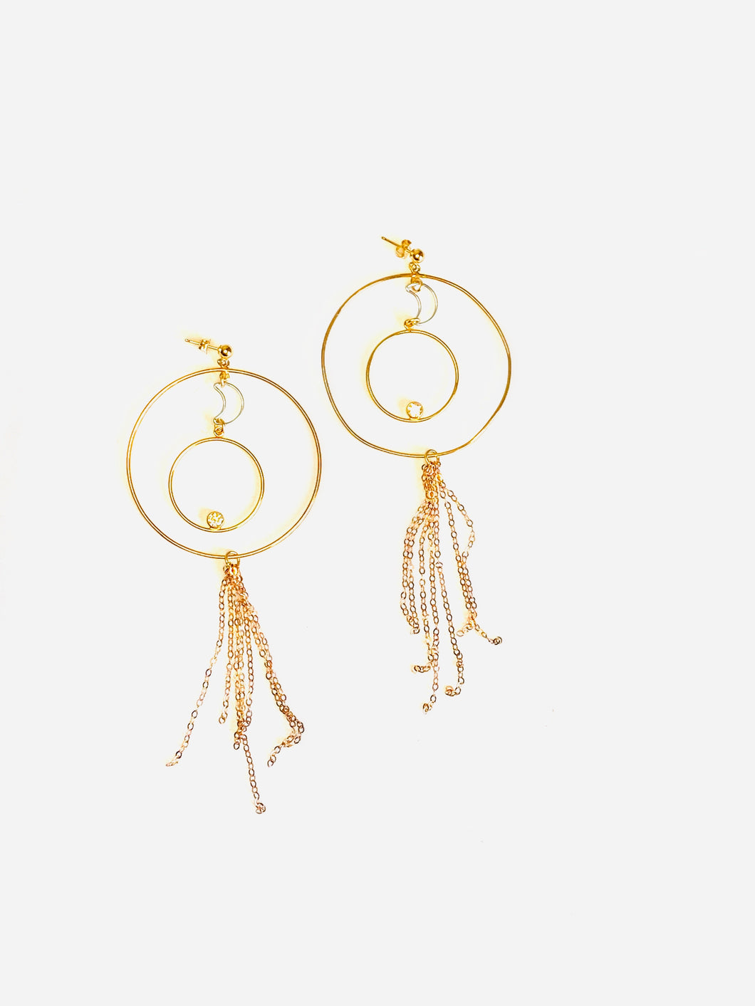 Moon Child Hoop Earrings