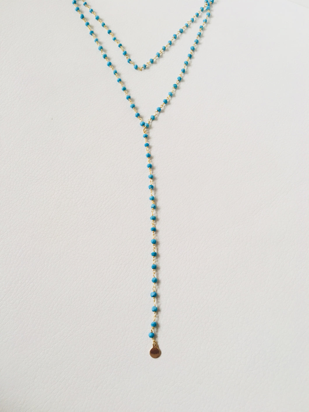 Two in One Turquoise Choker Lariat