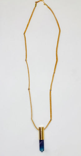 Suede Shakra Necklace