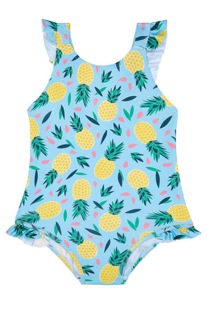 Girls - Pineapple Multi Colour Swimming Costume
