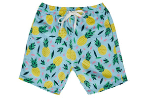 Boys - Multi Colour Pineapple Print Matching Swim Shorts with minor faults