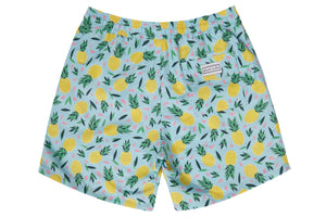 Mens - Multi Colour Pineapple Print Matching Swim Shorts with minor faults