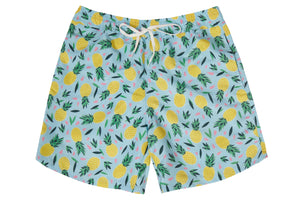 Mens - Multi Colour Pineapple Print Matching Swim Shorts