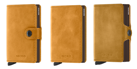 Secrid Wallet Ochre Collection