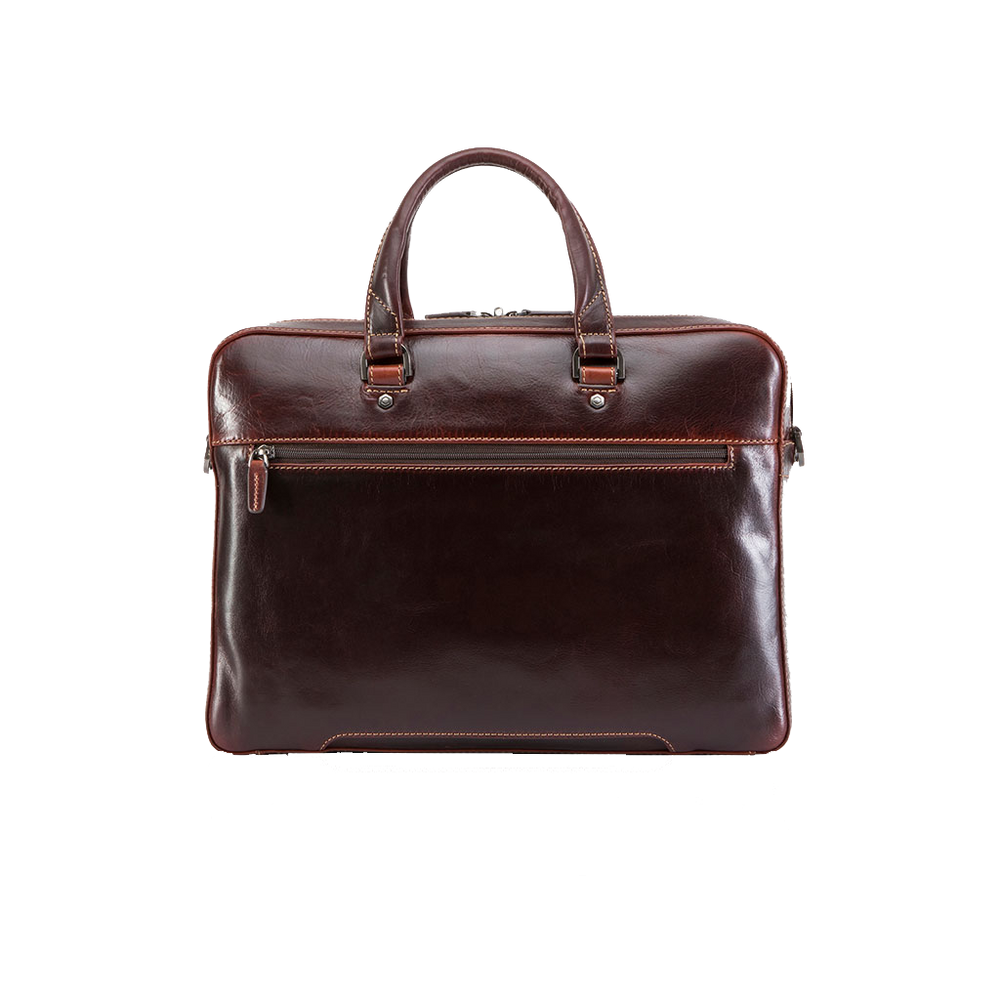"Jekyll & Hide Oxford Leather 15"" Brief Case"