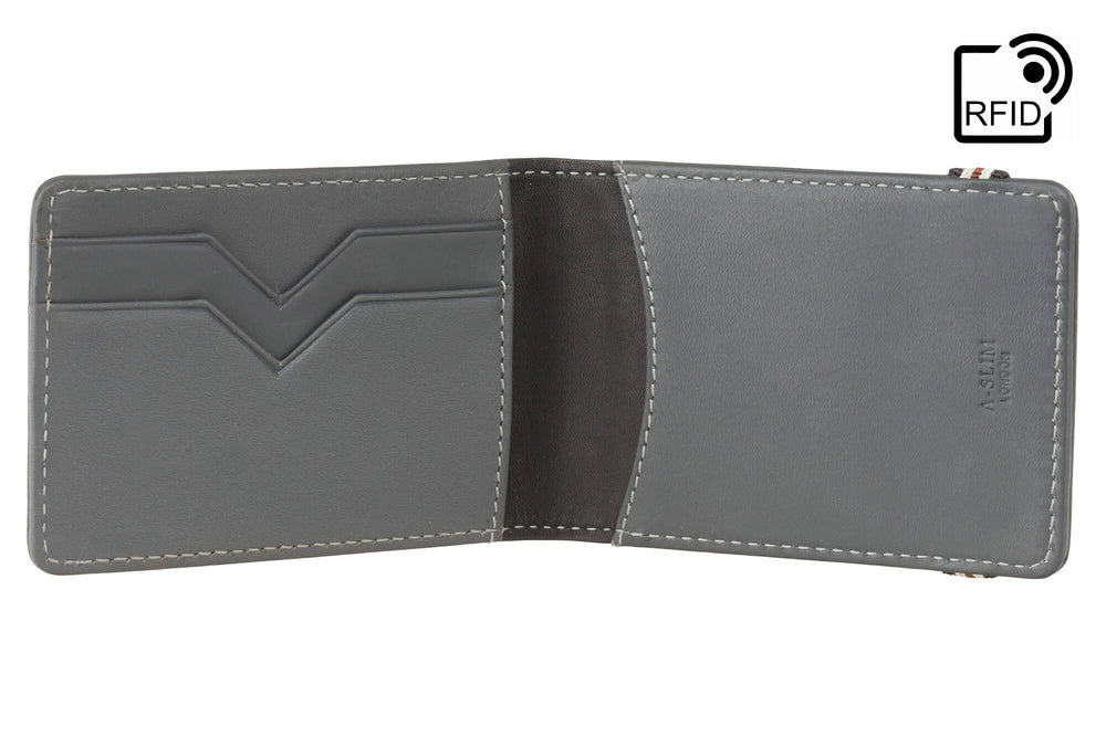A-Slim - Kihaku Band Close Wallet Gargoyle Grey