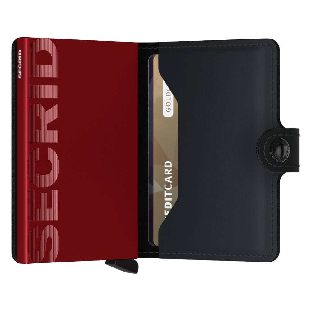 Secrid Miniwallet Matte Black and Red